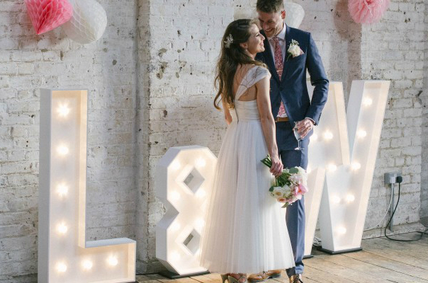 Hire Lit Up letters for weddings